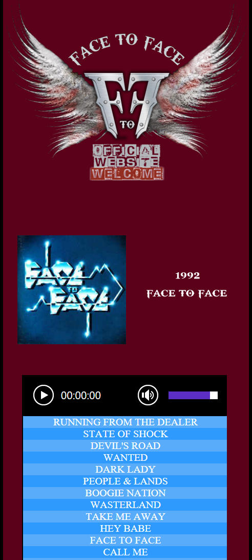 1992 FACE TO FACE
