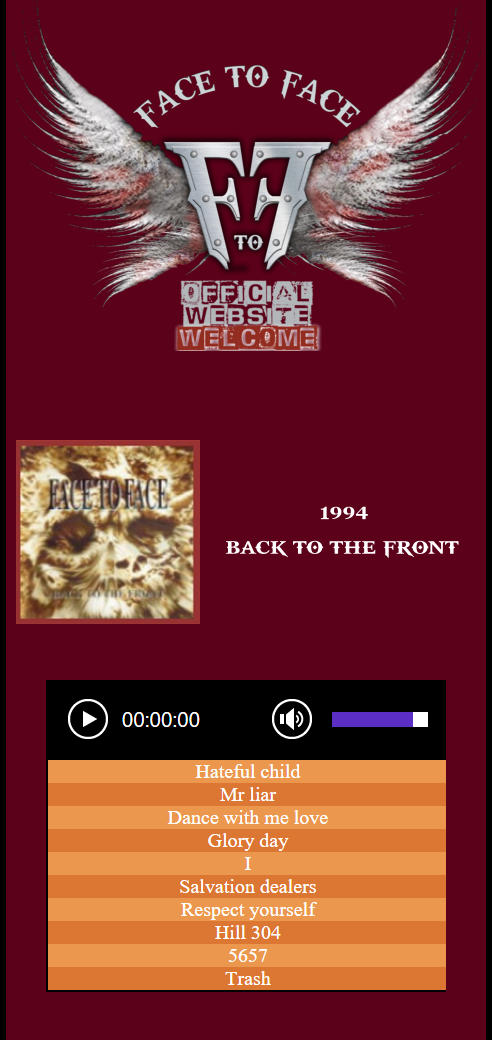 1994 BACK TO THE FRONT